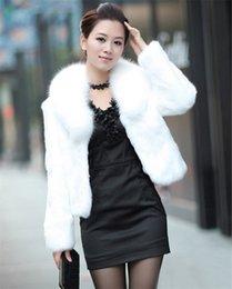 Mulheres Casaco De pele Quente Manga Longa Outerwear Casaco de Inverno Outono Casaco Gola Peludo Casaco Plus Size 3XL de Fornecedores de pele de raposa tingida