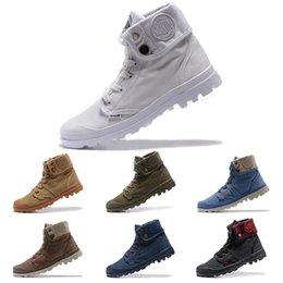 Palladium pas cher Pallabrouse Haute armée militaire cheville hommes femmes chaussures en toile Chaussures de sport en plein air Homme concepteur