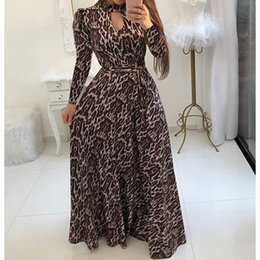 maxi swing dress Coupons - S-5XL Plus Size Long Maxi Dress Women Flower Print Party Dress Large Swing Bodycon Autumn Bohemian Dresses 11 Styles