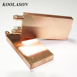 Puces informatiques en Ligne-40 * 80 * 10mm surface de miroir d'ordinateur bloc de plaque de cuivre pur échangeur de chaleur de refroidissement par eau radiateur pour PC IC radiateur