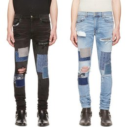 Jeans di marca di lusso online-Brand New Mens progettista dei jeans di lusso Jeans Uomo Donna Distressed Zipper denim strappati pantaloni progettista del Mens pantaloni di formato 29-42
