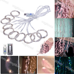 luci fiabe indoor Sconti Indoor 3M x 3M LED Window Curtain String Fairy Lights Curtain Ghirlande Strip Party Lights Per la decorazione della parete di nozze Wedding Party Home