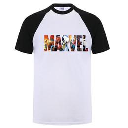 Marvel Футболка с коротким рукавом Мужская футболка с супергероем и принтом O-образным вырезом Comic Футболки Marvel Топы Мужская одежда Футболка XS-3XL от