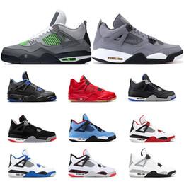 Neon jack on-line-2019 AirRetroJordânia 4 homens tênis de basquete NEON fogo vermelho CACTUS JACK PIT CITRON Singles Day FIBA OREO Sports Sneaker size 7-13
