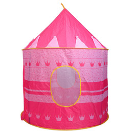 2019 poly sonne Tragbare falten blau spielzelt kinder kinder schloss cubby spielhaus rosa farbe