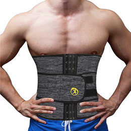 d4408ddd23a75 NINGMI Men Waist Trainer con tasca in neoprene Hot Shaper Cincher Corset  Corpo maschile Modellazione Belt Slimming Strap Fitness Shapewear