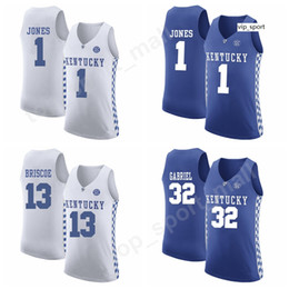 camisola do basquetebol kentucky Desconto Colégio Kentucky Wildcats Basketball camisas personalizadas Shai Gilgeous-Alexander Isaías Briscoe Isaías Briscoe Sacha Killeya-Jones