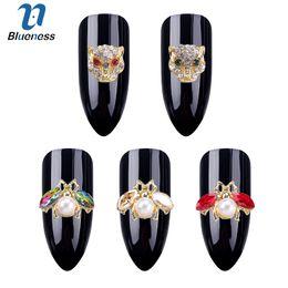 arte de uñas 3d animales Rebajas 50 unids / lote 3D Nail Art Decoraciones DIY Glitter Rhinestones animales de la perla Studs Nails Design Nail Art accesorios