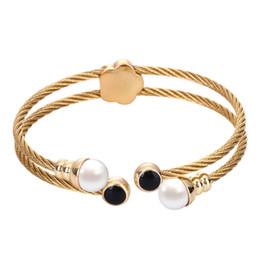 braceletes do projeto elegante Desconto A32 Pulseira de aço Inoxidável Feminino Bangle Temperamento Jóias Senhoras Presente Antigo Design Mulheres Bangle Encantos Elegantes