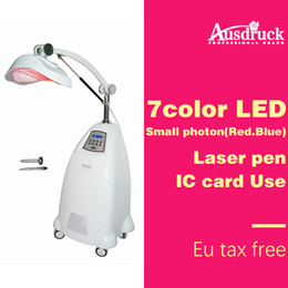 2020 fóton laser Eu taxonline profissional Máquina de Rejuvenescimento Da Pele Photon Facial PDT LED Therapy Laser Color Lâmpada de luz Equipamentos de salão de beleza fóton laser barato