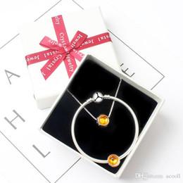 2019 pulseiras de ouro 24k china Moda 10 cores único cristal pulseira / colar set adequado para estilo Pandora esferas de charme europeu DIY pulseira jóias