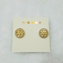 shamballa schmuck für männer Rabatt 2019 T Brief Diamant Glänzende Ohrstecker Europäische und Amerikanische Marke Legierung Golden Silver Lady Perle Runde Tropfen Ohrringe Armband