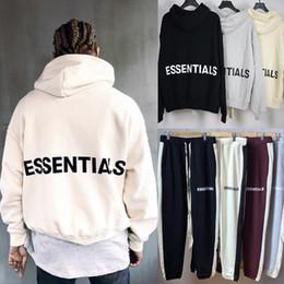 Übergroße sweatshirts online-Fear Of God Essentials Kapuzenpullover Justin Bieber Hip Hop Streetwear Übergroßer Kapuzenpullover aus Fleece FOG MQH1104
