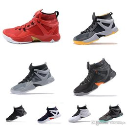 6229c921cd7d Mens lebron Ambassador 8 VIII basketball shoes for sale Team Red Gold South  Beach USA Blue White lebrons 16 Generation sneakers with box