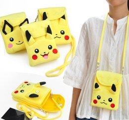 кошелек пикачу Скидка Дизайнерская мода Kawaii HOT Pikachu Дизайнерская сумка Сумка 17CM Плюшевая детская шея Ранец Плюшевые сумки Messenger Сумки через плечо Портмоне