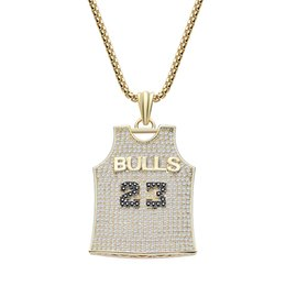 copper clothing Coupons - 2019 Trend Personality New Basketball Clothes Pendant Necklace Neutral Copper Zircon Pendant Necklace Jewelry High Quality