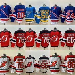 camisas do hóquei dos diabos Desconto 24 Kaapo Kakko Jersey Rangers Hockey Jerseys 10 Artemi Panarin Devils 76 P. K. Subban 86 Jack Hughes 50 Binnington Ryan O'Reilly