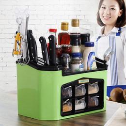 botellas de champú de plástico al por mayor Rebajas Caja de almacenamiento de cocina Accesorios organizador caso titular de hogar condimento botella