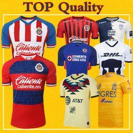 Dhl fußball trikots online-Chivas Club America UNAM Tigres Pachuca Xolos de Tijuana Cruz Azul UANL 2020 Fußball Jersey 19 20 Liga MX Mehr 10pcs geben DHL frei