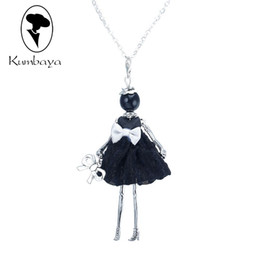 dresses singapore Coupons - store Hot Sale!! Cute Yarn Cloth Bowknot Dress Doll Necklace Women stores Christmas Gifts Jewelry Accessories Top-rated NS059