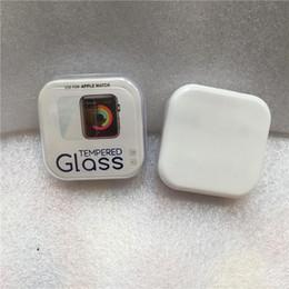Deutschland Rahmen Kleber gehärtetes Glas Displayschutzfolie 3D voll gekrümmtes gehärtetes Glas 38mm 42mm Serie 1/2/3 Kratzschutz mit Kristallbox Versorgung