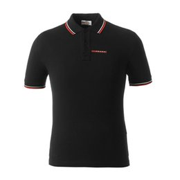 Canada Marque Hommes Casual Designer Polo Shirt Simple Mode Everyday Matching Manchette Rayée Classique Double Boucle Conception 100% Coton Respirant cheap casual mode men Offre