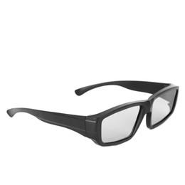 OOTDTY 1 PC Óculos 3D Passivos Preto H4 Circular Polarizado Visualizador 3D Cinema Pub Sky Cinema de Fornecedores de vendo óculos por atacado