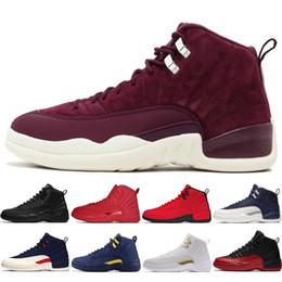 2019 nuovi anni di tessuto Hot 12s Winterized WNTR Gym Red Michigan Scarpe da basket da uomo The Master Flu Game Capodanno cinese 12 sport da uomo sneaker designer scarpe da ginnastica nuovi anni di tessuto economici