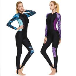 2019 roupa de mulher de corpo inteiro Sbart Full body Rash Guard para As Mulheres Zip Frente Quick-dry Impressão Proteção Solar Lycra Jellyfish Roupas para Mergulho Surf roupa de mulher de corpo inteiro barato