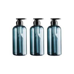 spray nano argent Promotion 3pcs 500ml grande capacité Presse Pompe bouteille bouteille de lotion Emulsion bleu et sous-conditionnement gris