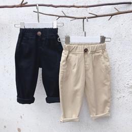 12 meses ropa de marcas para niños Rebajas 2019 Nuevo Bebé Niños pantalones harem Niños Coreano Flojo Pantalón casual Pantalones Bebé Pantalones Niños Boutique Ropa Niños Ropa
