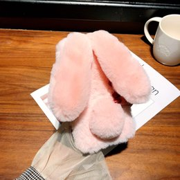 Orejas de la caja del teléfono online-Para Samsung galaxy A10 20 30 50 Plush Ear Rabbit Cute M10 20 Warm Phone Case Warmer TPU y Plush Drop Phone Case