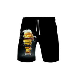Birra 3D stampato 2019 Vendita calda Beach Shorts per uomo Moda Shorts Casual Trendy Streetwear Adatto per costumi da bagno estate supplier men beer costume da costume della birra degli uomini fornitori
