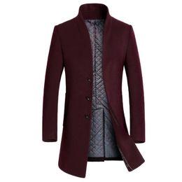 2019 männer wollmäntel Mode für Männer Jacken Oberbekleidung Trench Wollmäntel Lange Wollmantel Windjacke Warmen Wintermantel Casual Men Kleidung Hombre rabatt männer wollmäntel