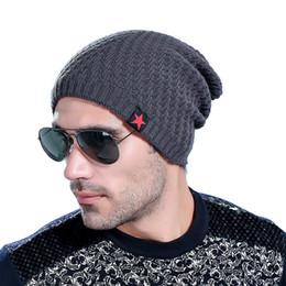 2019 bonnet étoile rouge Le nouveau bonnet Red Star hat hommes beanie d'hiver homme skullies bonnets en laine tricotés hommes hiver chapeaux Hip Hop casquettes automne gorros K08 promotion bonnet étoile rouge