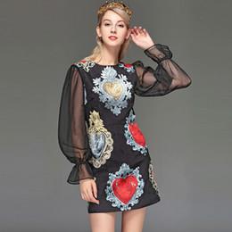 jacquard long dress Canada - Women  039 s Runway Dresses O Neck Long Sleeves 9b9a6ab08632