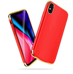 2019 caso de carregamento do iphone 6s Alta qualidade banco do poder do caso do iphone x pacote de carga da bateria de backup ultra-fino case capa para iphone 6 6 s 7 8 plus xs xr xr casos de bateria max desconto caso de carregamento do iphone 6s