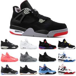 sale retailer f6c63 2a303 Nuevo 4 4s zapatos de baloncesto para hombre criados PALE CITRON gato negro  PURE MONEY OREO ALTERNO rojo fuego CACTUS JACK hombre zapatillas deportivas