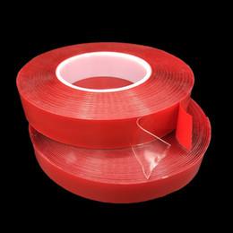 Acrylique double bande en Ligne-(5mm-15mm) Ruban Adhésif Acrylique Transparent Transparent Double Face Super Forte Ruban Adhésif Multi-Rôle (1mm Épaisseur) 3 Mètres