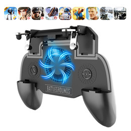 Suporte do joystick on-line-Rovtop Pubg Mobile Controller Gamepad Phone Holder Fan cooler Pubg Telefone Gatilho L1R1 Shooter Joystick 4000mAh Power Bank Z2