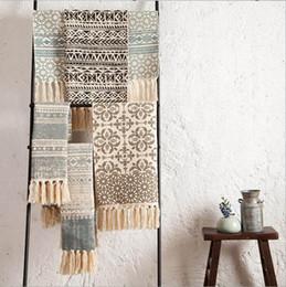 Florale klassische teppiche online-Vintage rustikale Boho böhmische Wolldecke ethnische Blumen Tapis Quaste Küche Schlafzimmer Bodenmatte Gebet Teppich marokkanische Decke