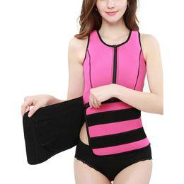 Neoprene Sauna Suor Vest cintura instrutor Cincher Mulheres corpo emagrecimento Trimmer Corset Workout Thermo Push Up instrutor de