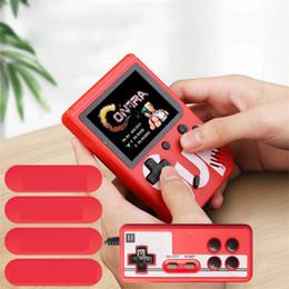 2019 игровые приставки hd Ретро Портативный игровой консоли 8-Bit 3,0-дюймовый HD Color Game Player Встроенный в 400 играх Double Play скидка игровые приставки hd