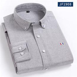 2020 más el tamaño de camisas de oxford 2019 New Spring Men Shirt Plus Size 5XL 100% algodón Ropa de hombre Camisa de vestir Oxford Casual Otoño Suave camisas masculinas más el tamaño de camisas de oxford baratos