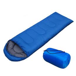 Sacos de dormir para adultos ao ar livre on-line-Sacos De Dormir Ao Ar Livre Saco de Dormir Único Saco de Dormir Cobertores À Prova D 'Água Envelope de Viagem Camping Caminhadas Cobertores Saco de Dormir ZZA650