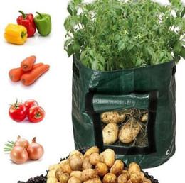 2019 piantare i vasi da giardino Giardino Potato Grow Piantatore PE Cloth Planting Container Bag Orticoltura jardineria Addensare Garden Pot Planting Grow Bag piantare i vasi da giardino economici