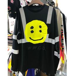2019 t-shirt asap ASAP Rocky CPFM W.W.C.D T Shirts Face 3M Reflective Justin Bieber Sportswear Mesh Orange CPFM W.W.C.D Langarm-T-Shirt günstig t-shirt asap
