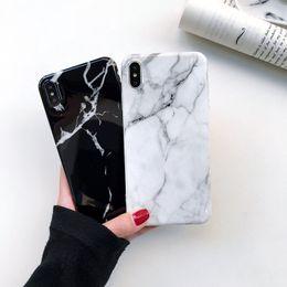 Argentina Nueva llegada de alta calidad al por mayor para el iPhone XS MAX XR X 8 7 Plus de moda de mármol suave TPU IMD caso de la cubierta protectora del teléfono celular caso supplier soft cell phone cover Suministro