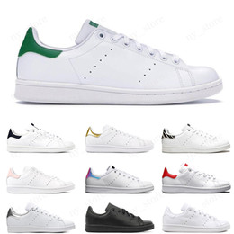 Smiths calzado deportivo online-Adidas Stan Smith Cheap smith men women flat Designer sneakers green black white blue oreo rainbow stan fashion Casual mens trainer outdoor sports shoes 36-44