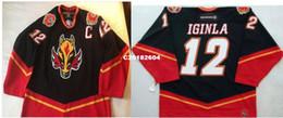 2019 calgary jerseys Real Men real Completo bordado # 12 Jarome Iginla Vintage Calgary Chamas Jersey de Hóquei ou personalizado qualquer nome ou número Jersey desconto calgary jerseys